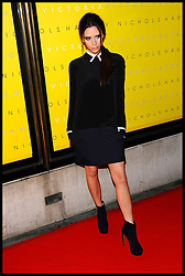 Victoria Beckham arrives for the Unveiling of her Victoria Beckham Clothing Line at Harvey Nichols, London, Friday February 17, 2012. Photo By i-Images