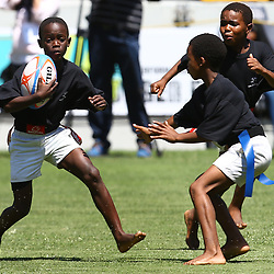 DURBAN, SOUTH AFRICA, December 2 2015 - General views during the training Session with The Cell C Sharks and meet beneficiaries of rugby exchange scheme between the UK and South Africa. At Growthpoint Kings Park in Durban, South Africa. (Photo by Steve Haag)<br /> images for social media must have consent from Steve Haag