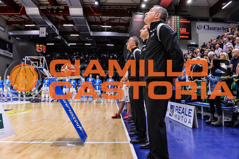 Arbitro, Referee,<br /> Banco di Sardegna Dinamo Sassari - Olimpia EA7 Emportio Armani Milano<br /> LegaBasket LBA Poste Mobile 2017/2018<br /> Sassari, 29/10/2017<br /> Foto L.Canu / Ciamillo-Castoria