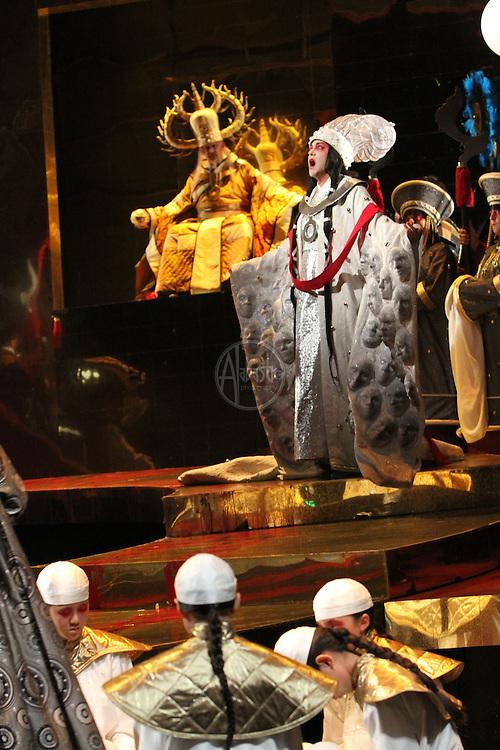 Seattle Opera Turandot Gold Cast Dress  Lori Phillips (Turnadot).