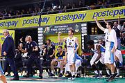 Esultanza panchina Cremona, VANOLI CREMONA vs AUXILIUM FIAT TORINO, Poste Mobile Final 8 2018 Semifinale, Lega Basket 2017/2018 Firenze 17 febbraio 2018 Nelson Mandela Forum