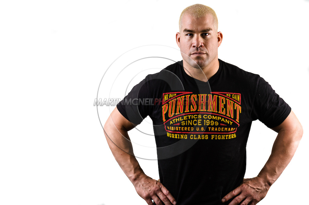 A portrait of mixed martial arts light-heavyweight athlete and former champion, Tito Ortiz
