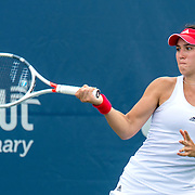 August 21, 2016, New Haven, Connecticut: <br /> Louisa Chirico of the United States in action during Day 3 of the 2016 Connecticut Open at the Yale University Tennis Center on Sunday, August  21, 2016 in New Haven, Connecticut. <br /> (Photo by Billie Weiss/Connecticut Open)