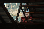 Hearst Tower through the ceiling of 250 W 55th Street NYC<br /> <br /> November 11th, 2011