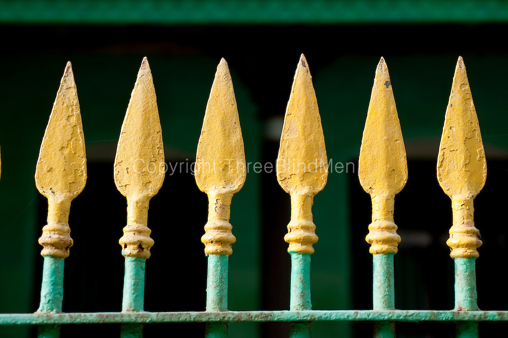 Iron fence. Home in Nagapattinam.