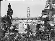 building of buildings near the Eiffel Tower for the Exposition Universelle de Paris 1889