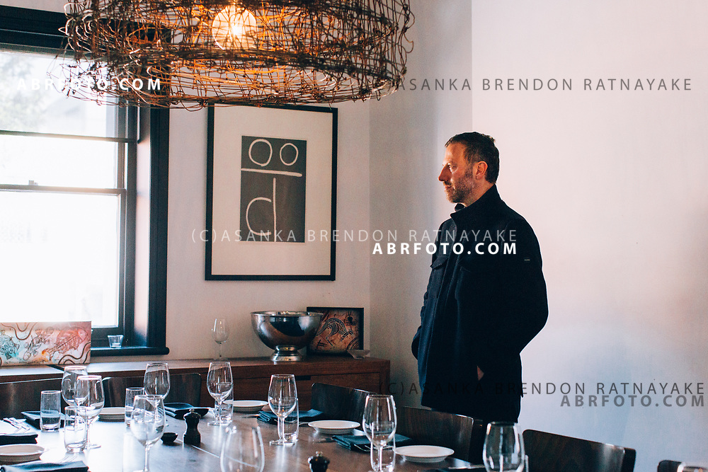 Mission Australia Project Manager of social enterprise, Troy Crellin inside one of the dining rooms of Charcoal Lane a restaurant on Gertrude Street Melbourne, Australia, August 30, 2017. The Charcoal Lane restaurant on Gertrude street serves Aboriginal inspired cuisine aimed at the fashionable clientele of the area. Asanka Brendon Ratnayake for the New York Times