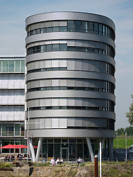 Modern office building one of the Five Boats at Innenhafen area of Duisburg in North Rhine-Westphalia Germany