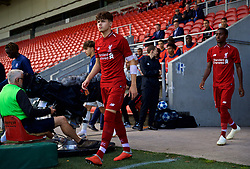 LIVERPOOL, ENGLAND - Tuesday, September 18, 2018: Liverpool's Neco Williams walks out before the UEFA Youth League Group C match between Liverpool FC and Paris Saint-Germain at Langtree Park. (Pic by David Rawcliffe/Propaganda)