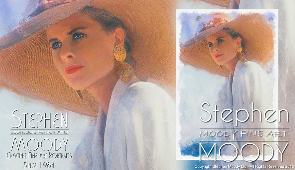 Fine Art Portraits on location by Scottsdale Portrait Artist Stephen Moody - Commissioned Mixed Media Portraiture