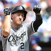 NEW YORK, NEW YORK - June 01:  Todd Frazier #21 of the Chicago White Sox celebrates after hitting a solo home run  during the Chicago White Sox  Vs New York Mets regular season MLB game at Citi Field on June 01, 2016 in New York City. (Photo by Tim Clayton/Corbis via Getty Images)