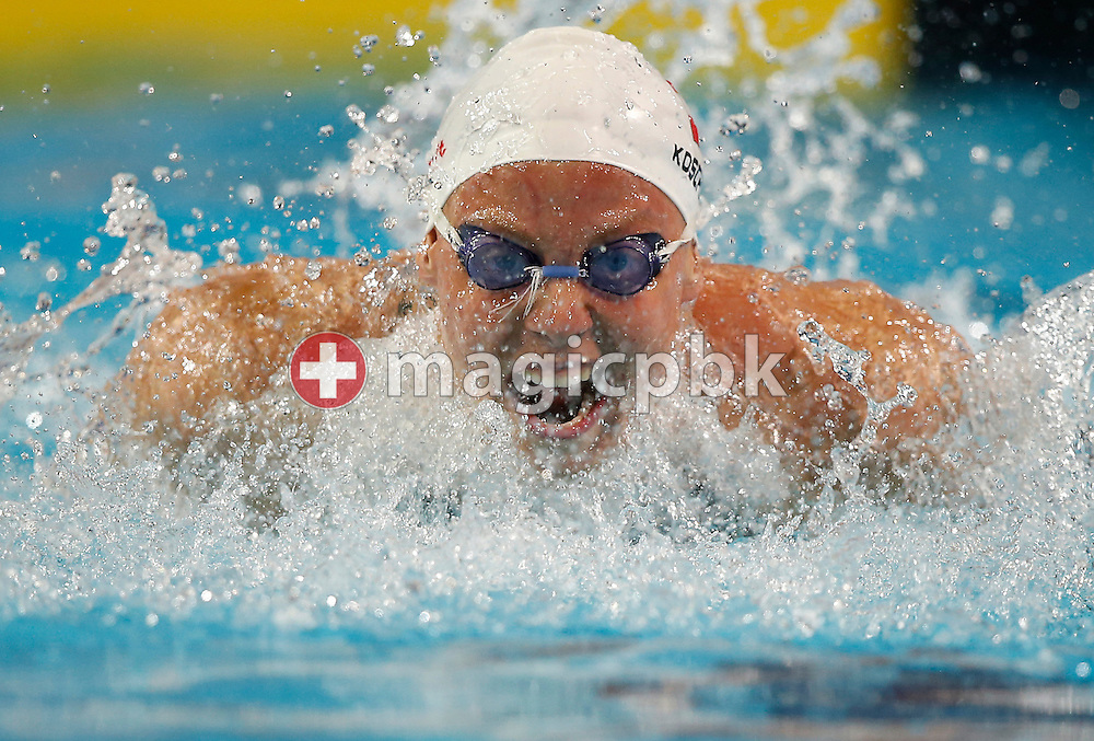 Birgit KOSCHISCHEK of Austria competes in the women's 100m Butterfly Heats during the 11th Fina World Short Course Swimming Championships held at the Sinan Erdem Arena in Istanbul, Turkey, Saturday, Dec. 15, 2012. (Photo by Patrick B. Kraemer / MAGICPBK)
