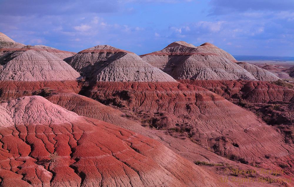 Colorful designs in the terrain of Badlands National Park South Dakota.