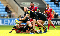 Joe Simpson of Wasps passes the ball - Mandatory by-line: Robbie Stephenson/JMP - 17/09/2017 - RUGBY - Ricoh Arena - Coventry, England - Wasps v Harlequins - Aviva Premiership