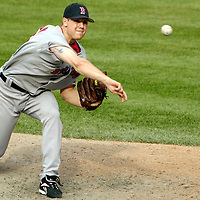 09 September 2007:  Boston Red Sox pitcher Jonathan Papelbon (58) pitches in the 9th inning against the Baltimore Orioles.  Papelbon pitched the 9th inning for his 35th save of the year as the Red Sox defeated the Orioles 3-2 at Camden Yards in Baltimore, MD.  ****For Editorial Use Only****