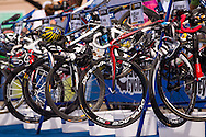 Bikes Racked In Transition 1.Womens ITU Race.2011 Dextro Energy Triathlon ITU World Championship Sydney.Sydney, New South Wales, Australia..Hosted By USM Events.Proudly Supported By Asics, Dextro, Suunto, Events New South Wales, Subaru, USM Events..10/04/2011.Photo Lucas Wroe