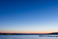 Beautiful sunset over Lake Washington and Waverly Beach Park in Kirkland WA<br />