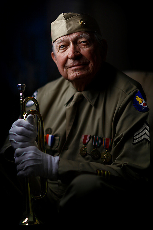 Army Air Corps veteran bugler, Robert McDonald.