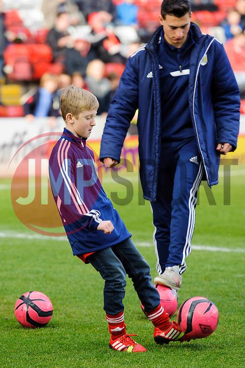 Children take part in a half time competition - Photo mandatory by-line: Rogan Thomson/JMP - 07966 386802 - 01/03/2014 - SPORT - FOOTBALL - Ashton Gate, Bristol - Bristol City v Gillingham - Sky Bet League One.