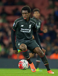 LONDON, ENGLAND - Friday, March 4, 2016: Liverpool's Ovie Ejaria in action against Arsenal during the FA Youth Cup 6th Round match at the Emirates Stadium. (Pic by Paul Marriott/Propaganda)