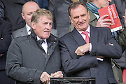 Kenny and Phil Thompson before the Barclays Premier League match between Liverpool and Stoke City at Anfield, Liverpool, England on 10 April 2016. Photo by Mark P Doherty.