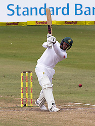 Durban. 050318. Quinton de Kock of  the Proteas during day 5 of the 1st Sunfoil Test match between South Africa and Australia at Sahara Stadium Kingsmead on March 04, 2018 in Durban, South Africa. Picture Leon Lestrade/African News Agency/ANA