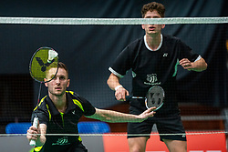Ruben Jille and Ties van der Lecq during the Dutch Championships Badminton on February 1, 2020 in Topsporthal Almere, Netherlands
