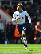 Dele Alli (20) of Tottenham Hotspur during the Premier League match between Bournemouth and Tottenham Hotspur at the Vitality Stadium, Bournemouth, England on 4 May 2019.