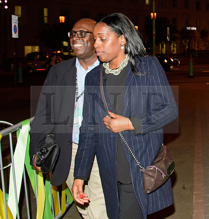 © Licensed to London News Pictures. 24/09/2016. Liverpool, UK. Labour MP KATE OSAMOR arrives to celebrate the re-elected of Labour Party Leader Jeremy Corbyn at a party organised by Momentum in Liverpool.  Photo credit: Ben Cawthra/LNP