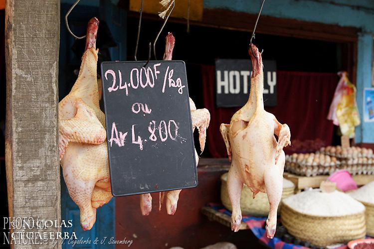 Poulets sur un marché de Antananarivo