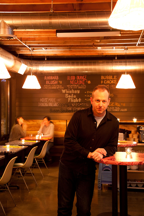 The Whiskey Soda Lounge in Portland, Oregon's SE Neighborhood serves up aahaan kap klaem, the drinking food of Thailand, and the same drinks menu as its mother restaurant, Pok Pok. Pictured here is chef/owner Andy Ricker.