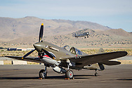 RENO, NV - SEPTEMBER 13: A vintage aircraft sits on the ramp between heats at the Reno Championship Air Races on September 13, 2017 in Reno, Nevada. (Photo by Jonathan Devich/Getty Images)