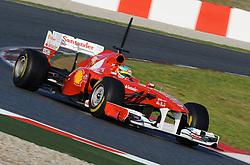 18.02.2011, Circuit de Catalunya, Barcelona, ESP, Formel 1 Test 3 2011,  im Bild Fernando Alonso (ESP),  Scuderia Ferrari EXPA Pictures © 2011, PhotoCredit: EXPA/ nph/  Dieter Mathis       ****** out of GER / SWE / CRO  / BEL ******