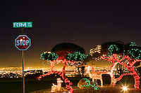 Rim Road Christmas Display and El Paso Skyline.