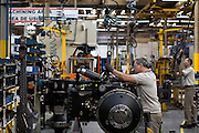 Porto Alegre_RS, Brasil.<br /> <br /> Linha de producao de tratores Massey Fergson na fabrica em Porto Alegre, Rio Grande do Sul.<br /> <br /> Tractors production line Massey Fergson in the factory in Porto Alegre, Rio Grande do Sul.<br /> <br /> Foto: RODRIGO LIMA / NITRO