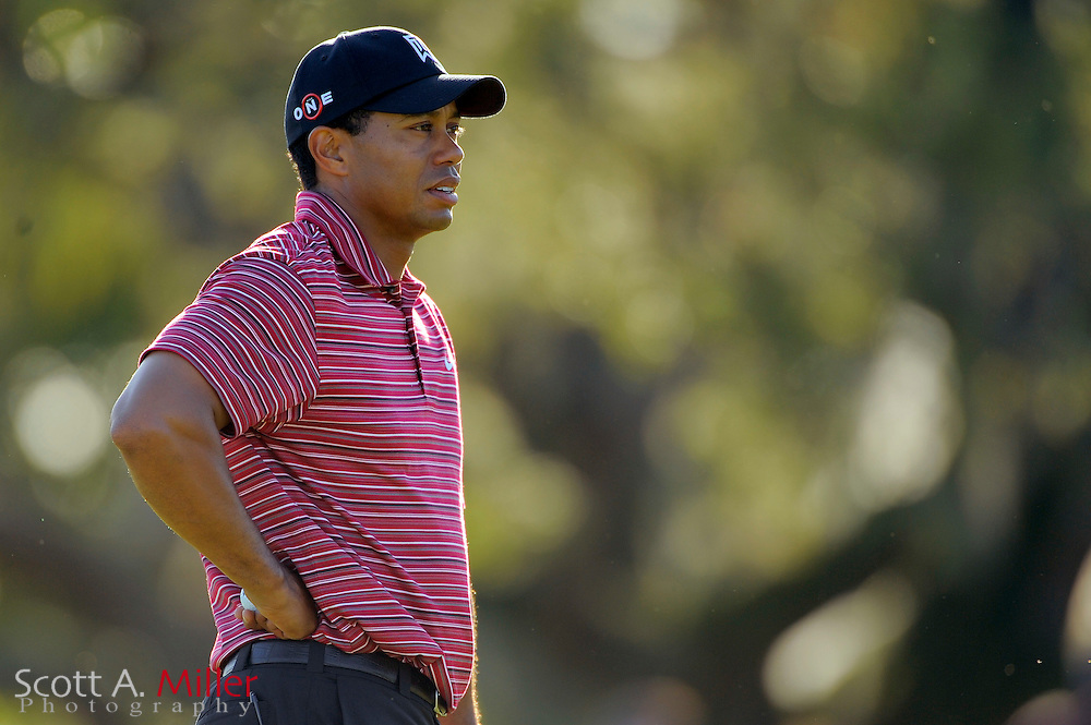 March 29, 2009; Orlando, FL, USA; Tiger Woods on the 12th hole during the final round of the Arnold Palmer Invitational at the Bay Hill Club and Lodge. ©2009 Scott A. Miller