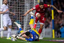Francisco Casilla of Leeds United saves from Nahki Wells of Bristol City - Mandatory by-line: Daniel Chesterton/JMP - 15/02/2020 - FOOTBALL - Elland Road - Leeds, England - Leeds United v Bristol City - Sky Bet Championship