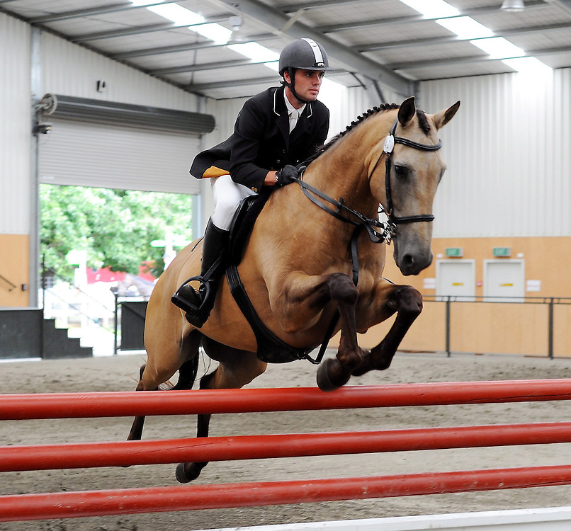 File Photo: Tom Gadsby who suffered fatal injury at the Somerford Park International Horse Trials in Cheshire,  riding JJ Certainly Sir, Gisborne, Saturday, January 30, 2010. Credit:SNPA / Kerry Marshall