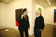 Mathew Marks and Ellsworth Kelly, Ellsworth Kelly exhibition opening. Serpentine Gallery and afterwards at the River Cafe. London. 17 March 2006. ONE TIME USE ONLY - DO NOT ARCHIVE  © Copyright Photograph by Dafydd Jones 66 Stockwell Park Rd. London SW9 0DA Tel 020 7733 0108 www.dafjones.com