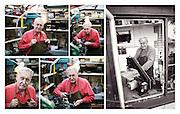 Trevor Baylis in his workshop
