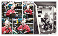 Trevor Baylis in his workshop