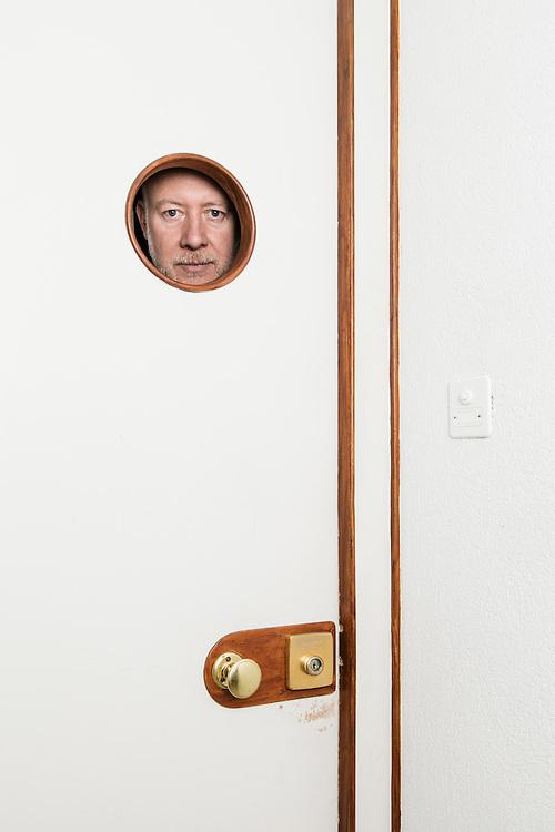 Zurich 25 janvier 2017. Martin Frei, designer de la marque horlogère Urwerk. © Niels Ackermann / Lundi13