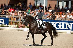 Fry Charlotte, GBR, Glamourdale<br /> World ChampionshipsYoung Dressage Horses<br /> Ermelo 2018<br /> © Hippo Foto - Dirk Caremans<br /> 05/08/2018