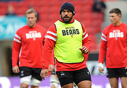 John Afoa of Bristol Bears warms up before kick-off- Mandatory by-line: Nizaam Jones/JMP - 19/01/2019 - RUGBY - Ashton Gate Stadium - Bristol, England - Bristol Bears v Enisei-STM - European Rugby Challenge Cup