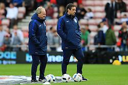 England coaches Ray Lewington and Gary Neville - Mandatory by-line: Matt McNulty/JMP - 27/05/2016 - FOOTBALL - Stadium of Light - Sunderland, United Kingdom - England v Australia - International Friendly
