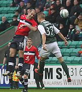 Gary Harkins and Jordon Forster  - Hibernian v Dundee - Clydesdale Bank Scottish Premier League at Easter Road.. - © David Young - www.davidyoungphoto.co.uk - email: davidyoungphoto@gmail.com