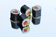 Tuna and Salmon Sushi Maki