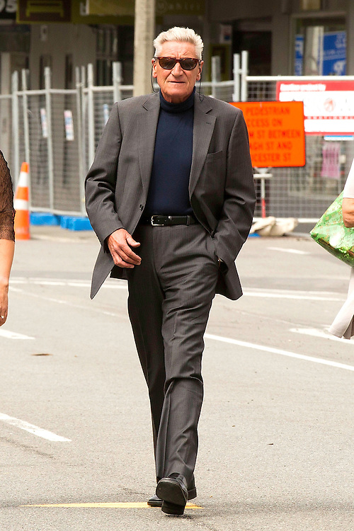File photo of comedian and actor Jon Gadsby, arriving at the Christchurch District Court to defend a drink-drive charge on 26/2/2008, died on Saturday of cancer aged 62 years-old at his home in Christchurch. Credit:SNPA / Martin Hunter
