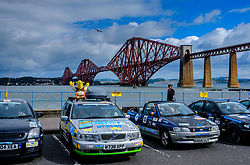 Participants in the Rust 2 Rome car rally for cars worth less than &pound;500 prepare to leave South Queensferry on the first leg of the journey which last 2 weeks<br /> <br /> (c) Andrew Wilson | Edinburgh Elite media
