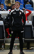 AFC Bournemouth first team manager Eddie Howe during the Sky Bet Championship match between Brighton and Hove Albion and Bournemouth at the American Express Community Stadium, Brighton and Hove, England on 10 April 2015. Photo by Phil Duncan.